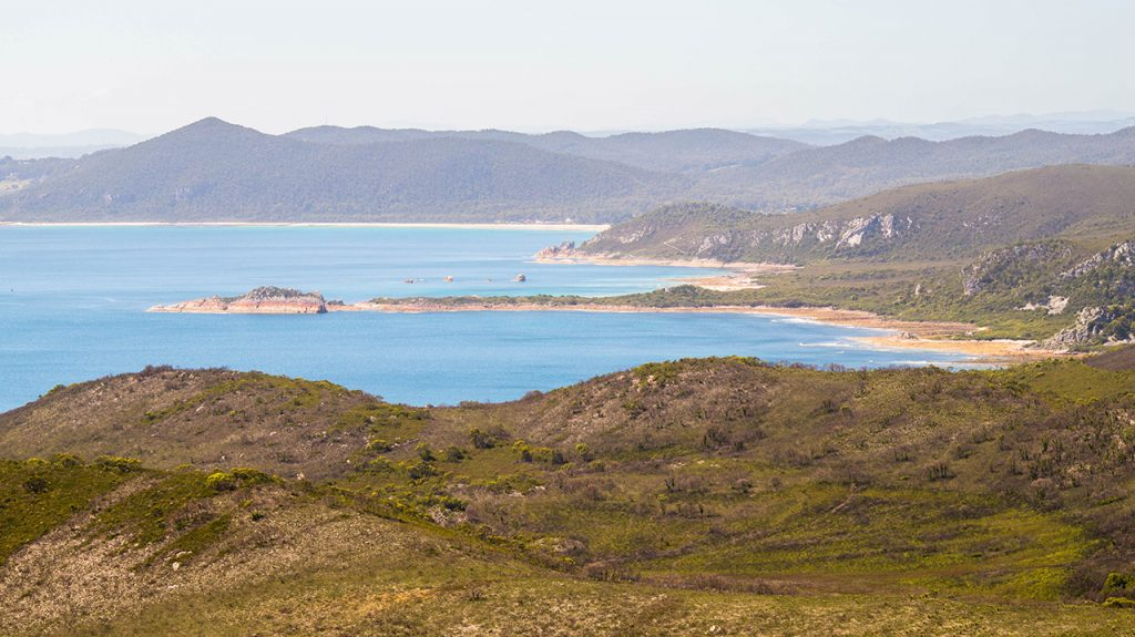 View from high in Rocky Cape National Park