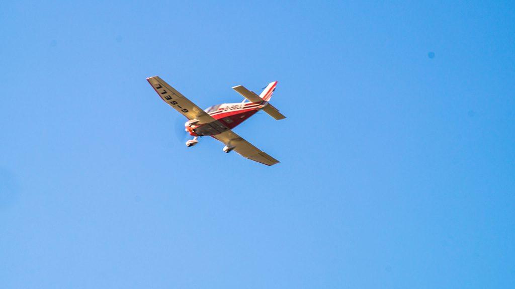 Planes flying Blithfield Reservoir