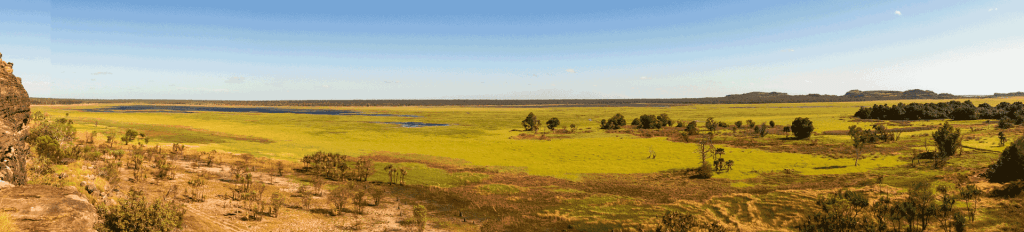 Panoramic photo of the Nadab Floodplains