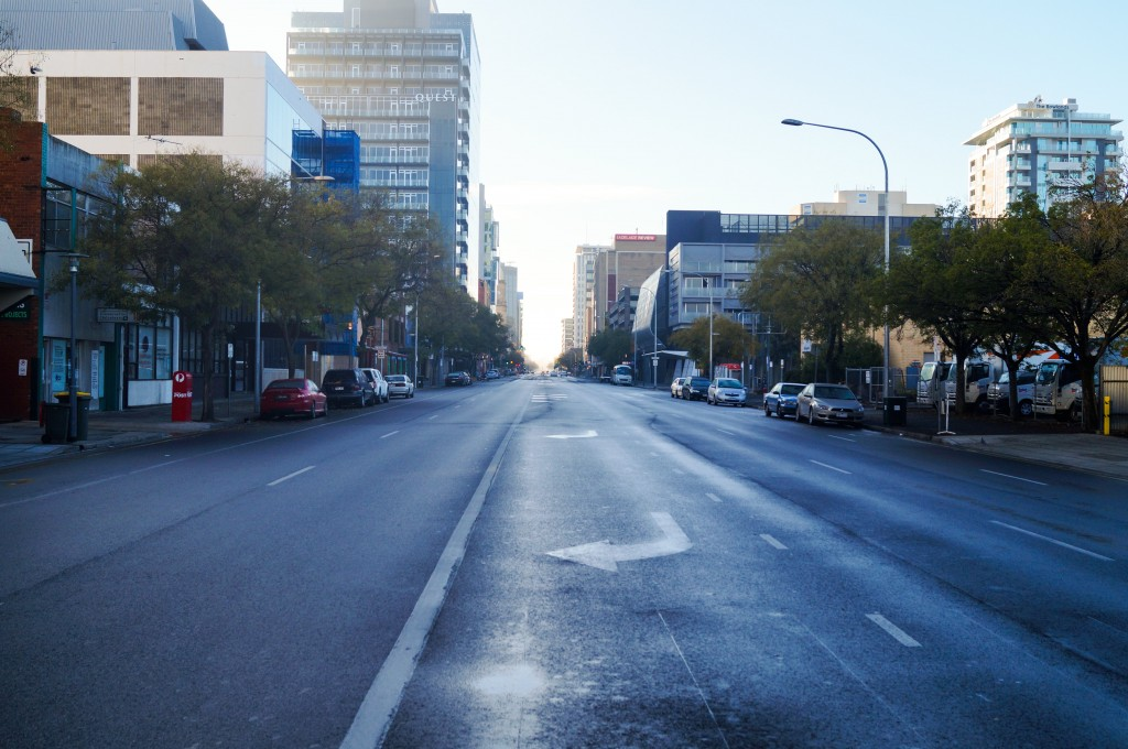 Busy Adelaide City Road