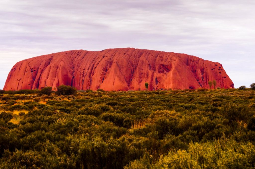 Clouds at Uluru