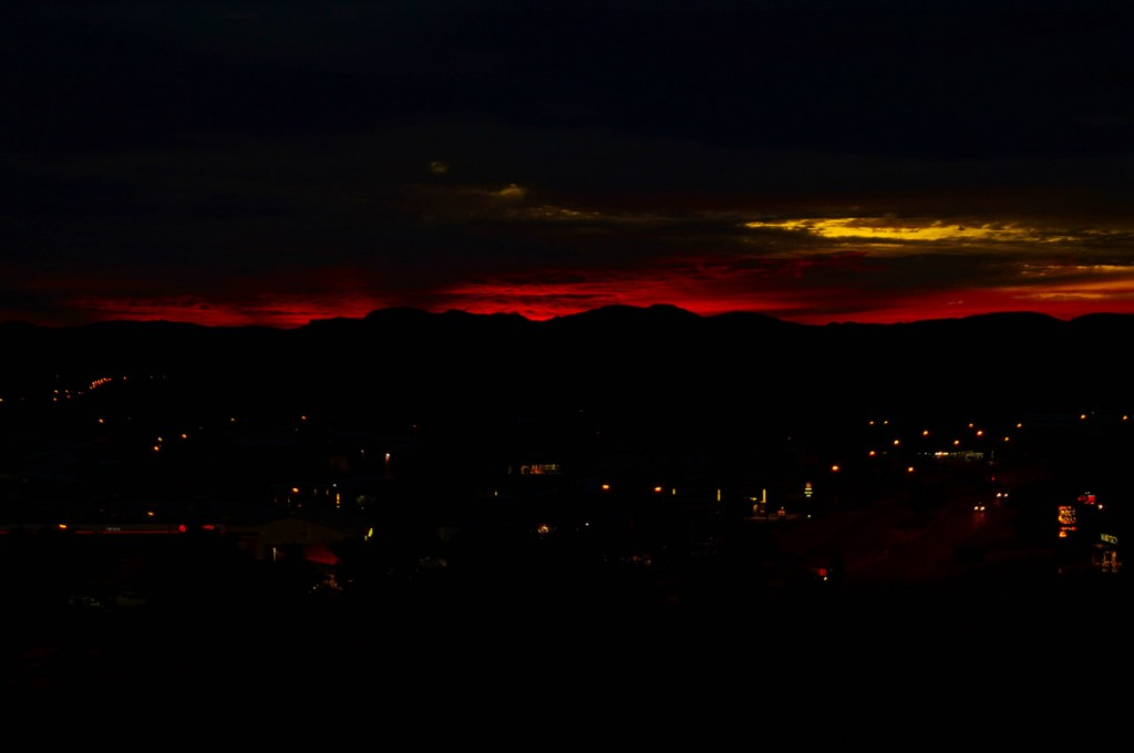 Blood Red Sunset Anzac Hill