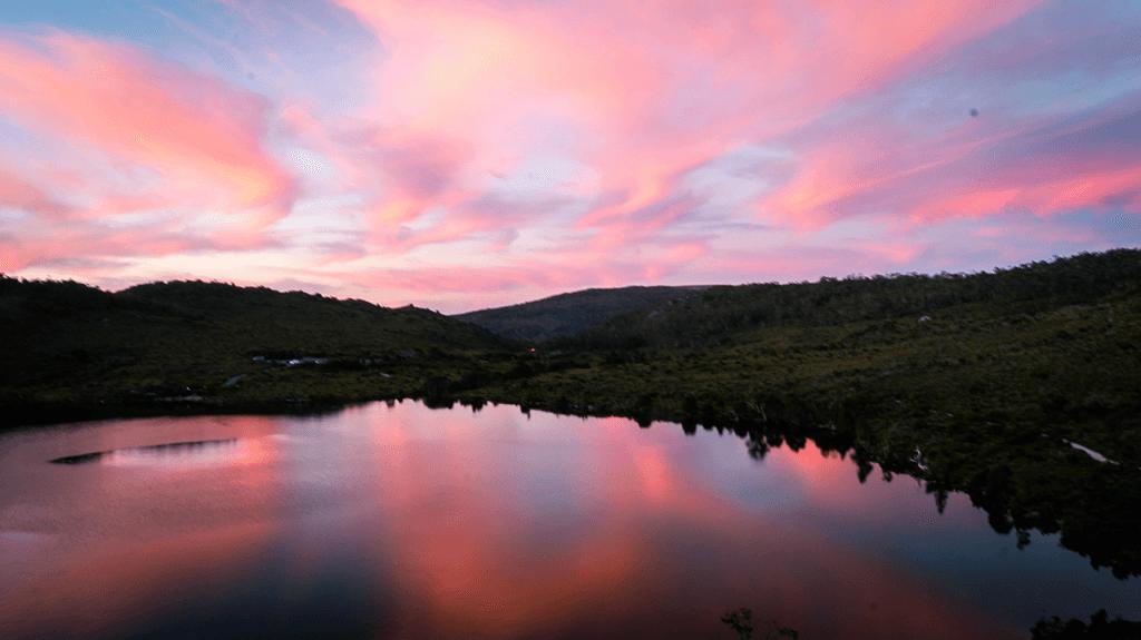 Sunset on Cradle Mountain