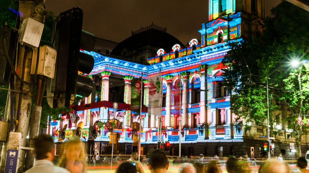 Melbourne Town Hall Christmas 2014