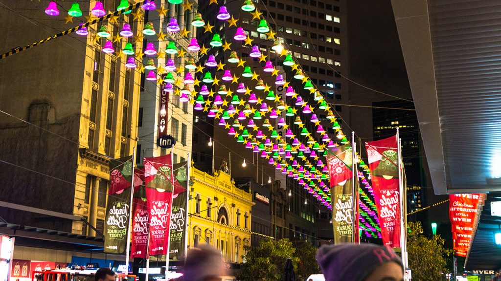 Christmas Decorations in Melbourne CBD