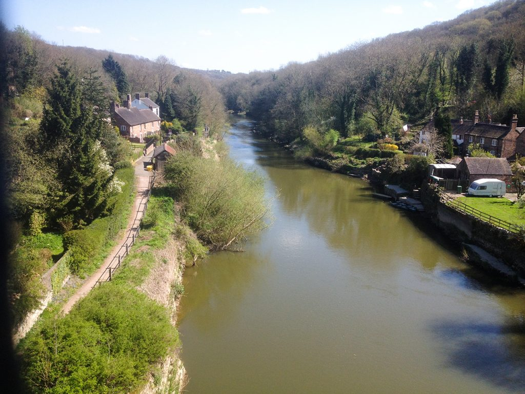 Downriver at Ironbridge from on the bridge