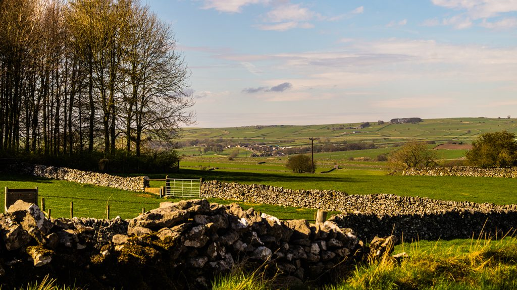 Traditional english stone walls derbyshire