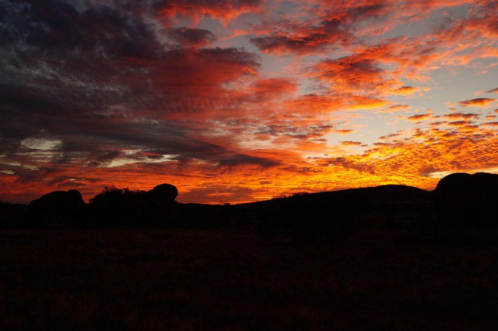 Vibrant Sunset at Karlu Karlu the Devils Marbles