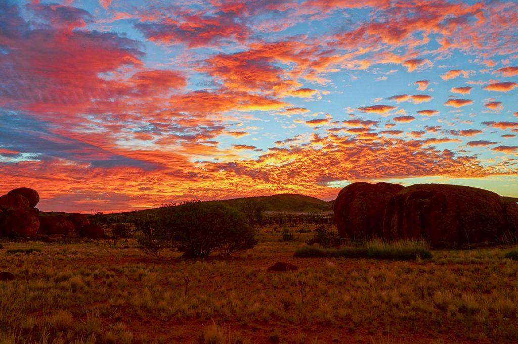 Devils Marbles Sunset