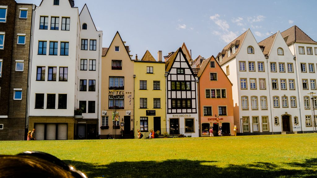 Cologne's Old Town Along the River Rhine
