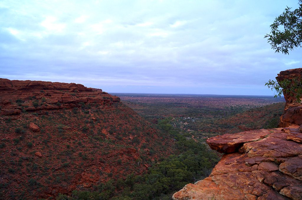 The View from the Rim Walk at Kings Canyon Australia