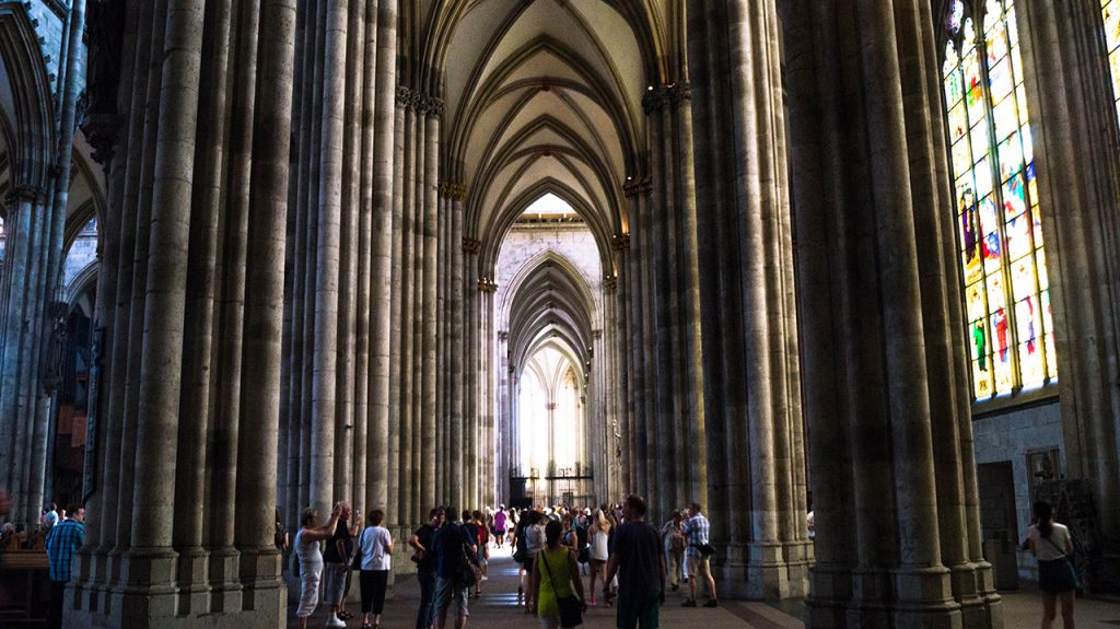 Inside Koeln Cathedral