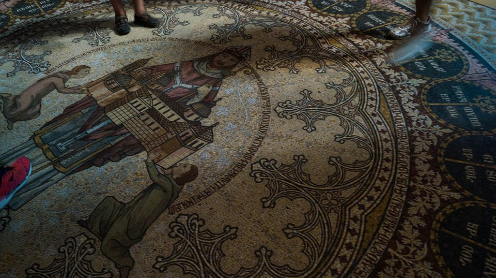 Mosaic floor Koeln Cathedral Cologne