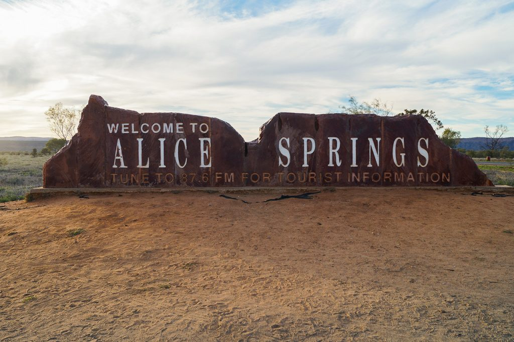 Alice Springs Sign post