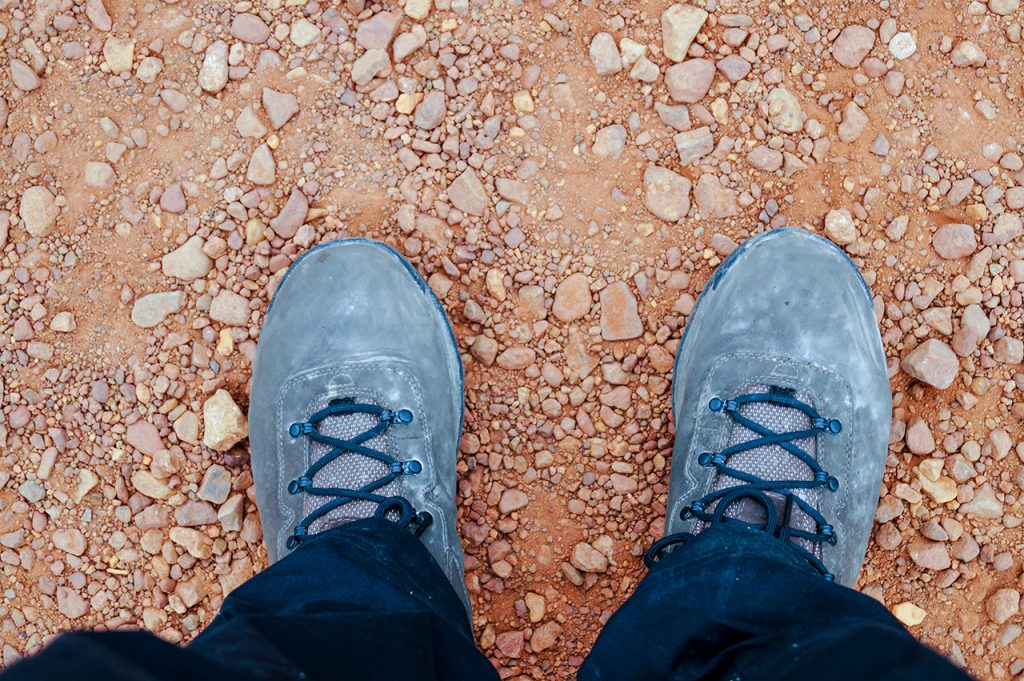 Dusty boots in the red centre