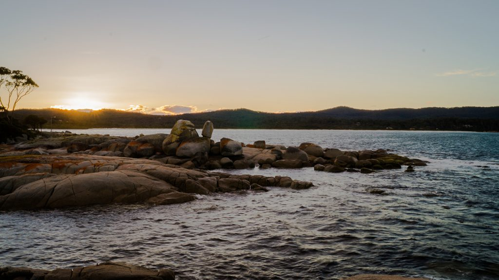 the Bay of Fires in Tasmania