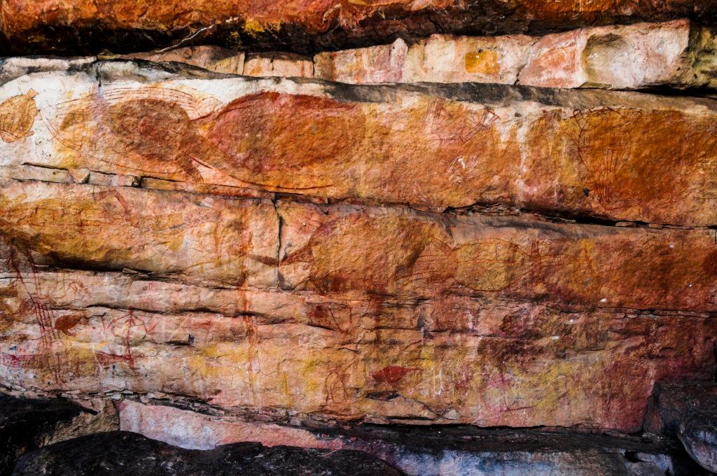 Aboriginal cave paintings