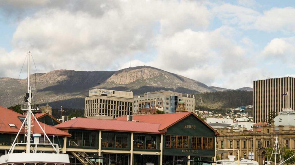 Mount Wellington seen from Hobart