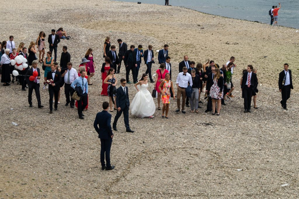 Wedding on the banks of the Rhine in Cologne
