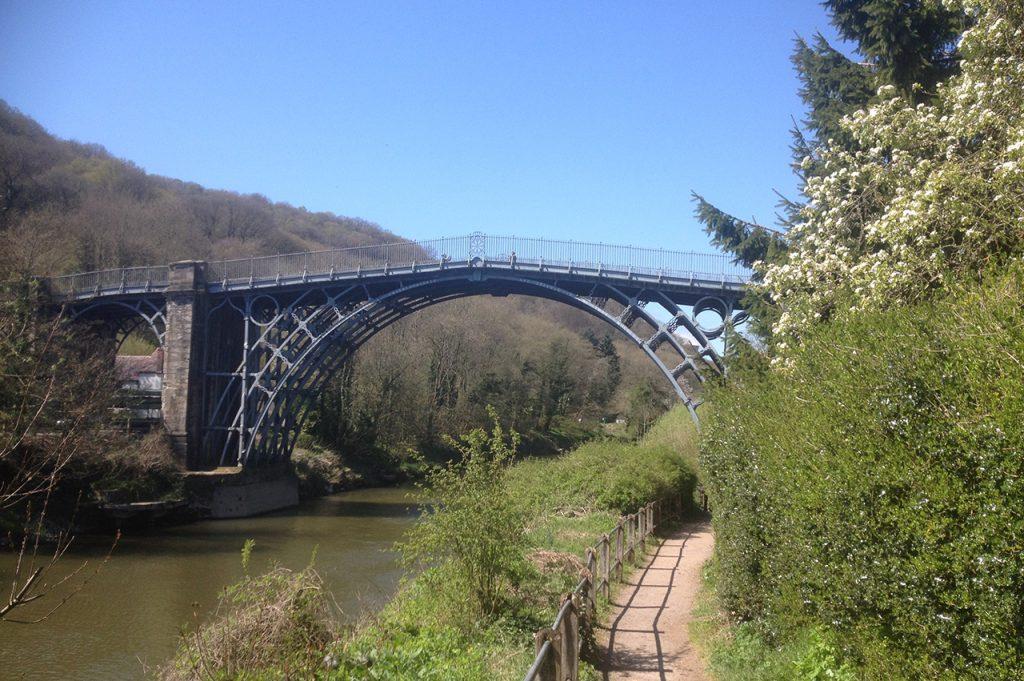 Ironbridge bridge on the River Severn