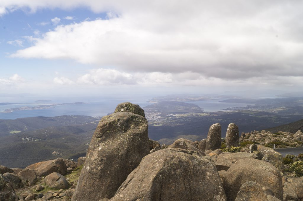 View from Mount Wellington in Tasmania