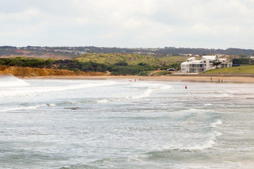 Surfers at Torquay, Victoria
