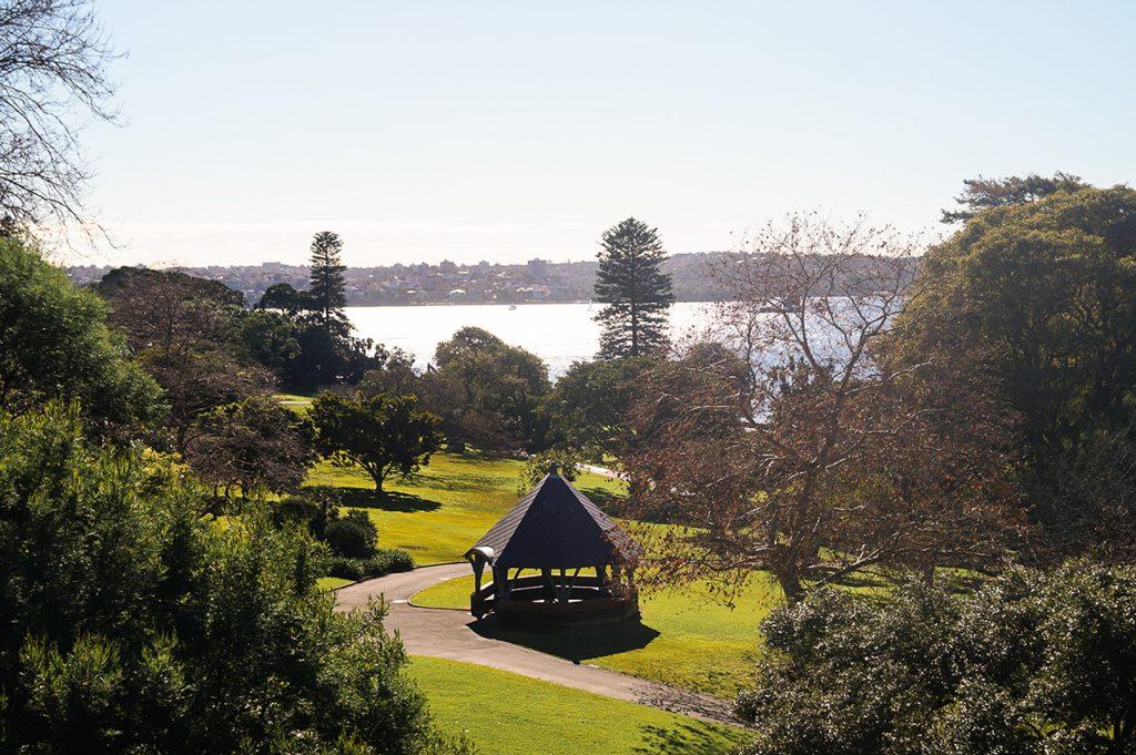 Pagoda in Sydney Botanic Gardens
