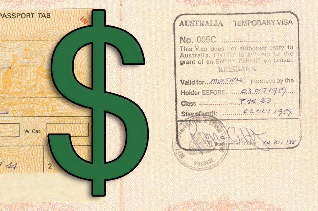 Australia working holiday visa fees