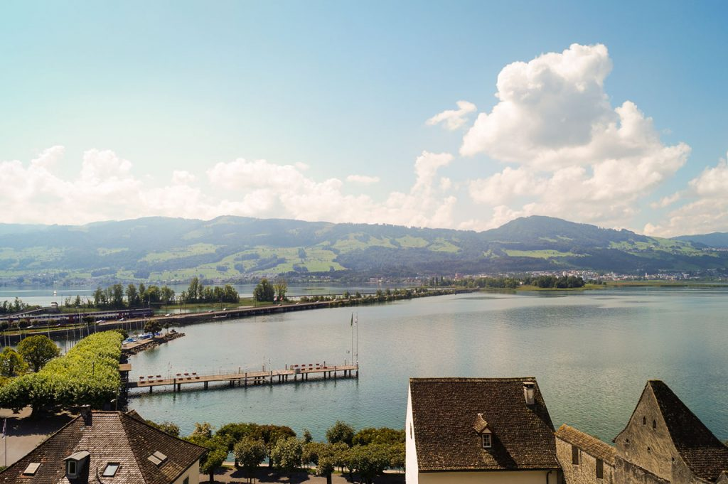 View over Rapperswil-Jona and Lake Zürich