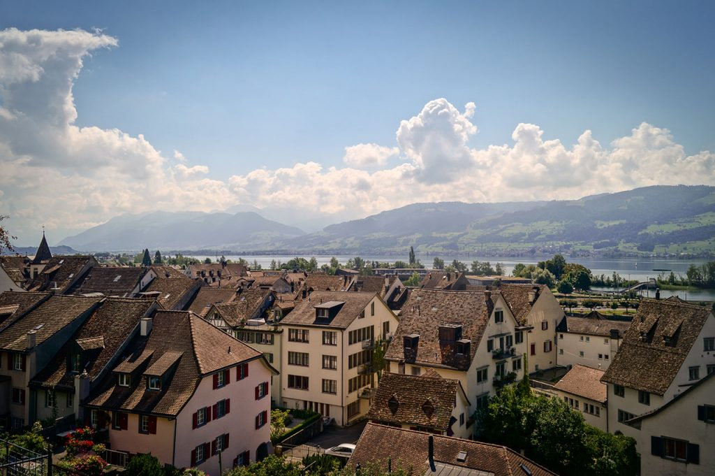 View across Rapperswil