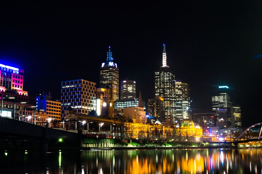 Melbourne city photography at night
