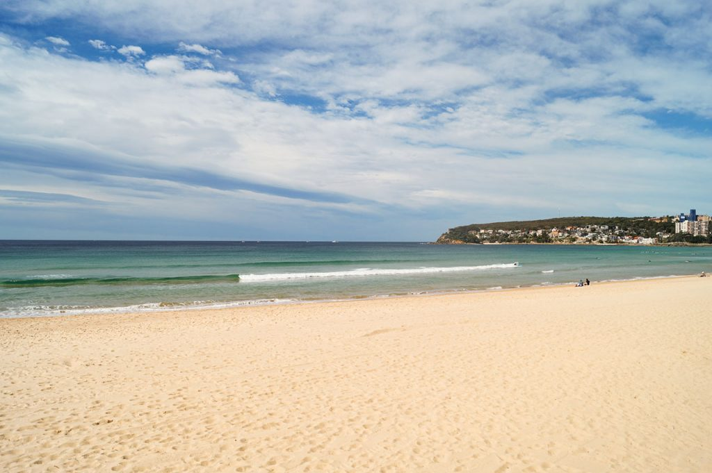 Bondi beach in the winter