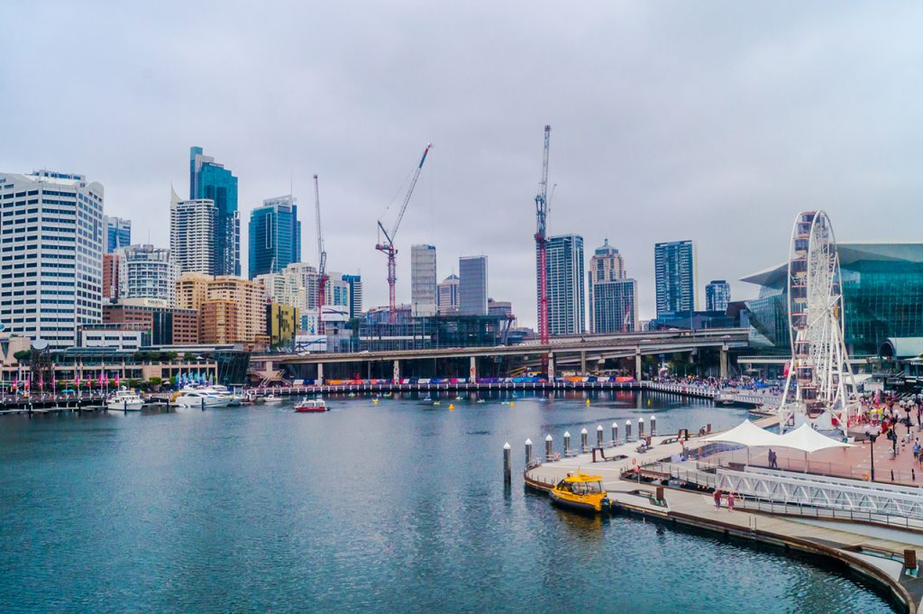 Peddle boats on Darling Harbour
